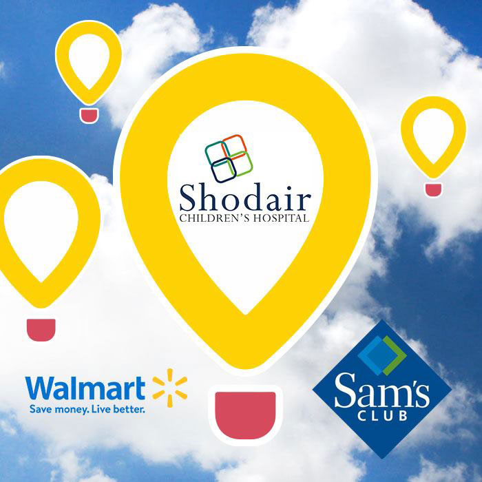 Donations at Walmart and Sam's Club go to Shodair Children's Hospital