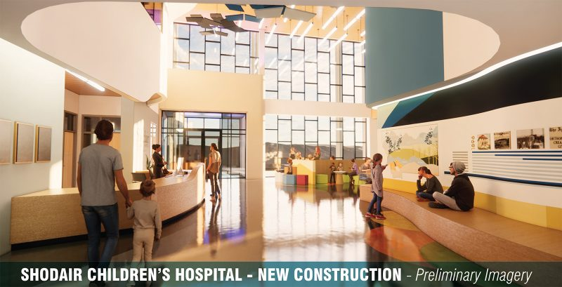 Rendering of construction and renovation